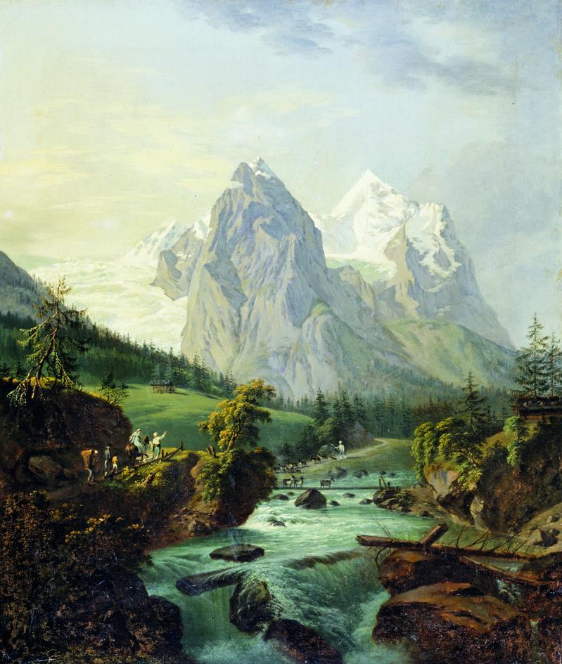 Franz Niklaus König: Ansicht des Wetterhorns von Rosenlaui aus () / Oel auf Leinwand / 90 x 76 cm