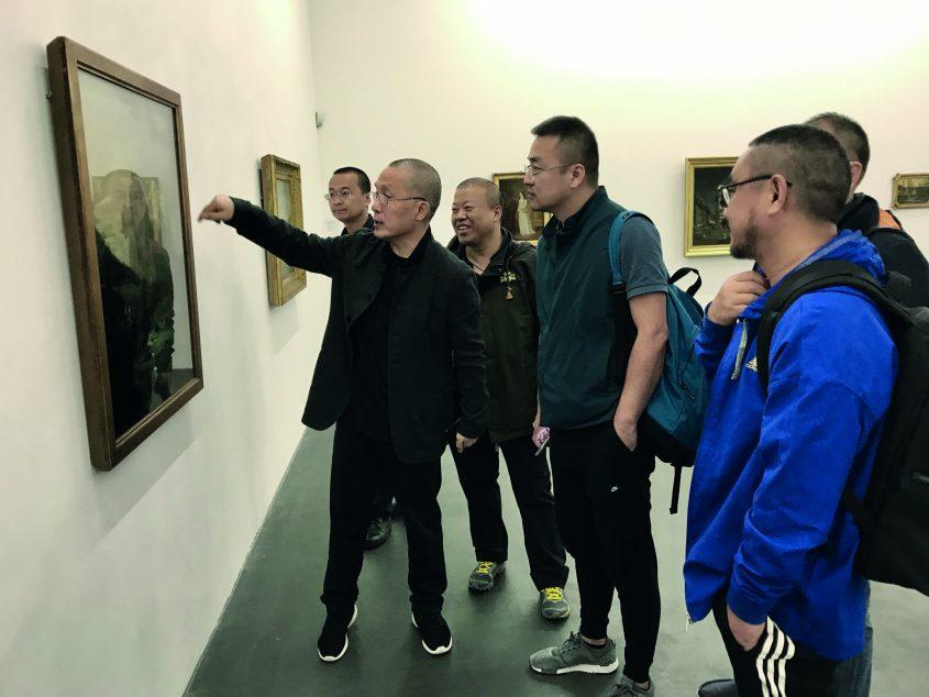 Besuch der Künstler im Kunsthaus Interlaken, Aug. 2017